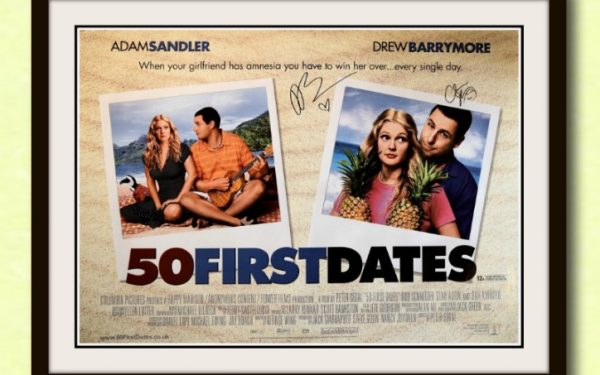 50 First Dates Signed Poster