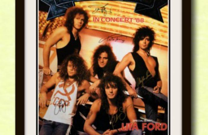 #1 Bon Jovi Signed Poster