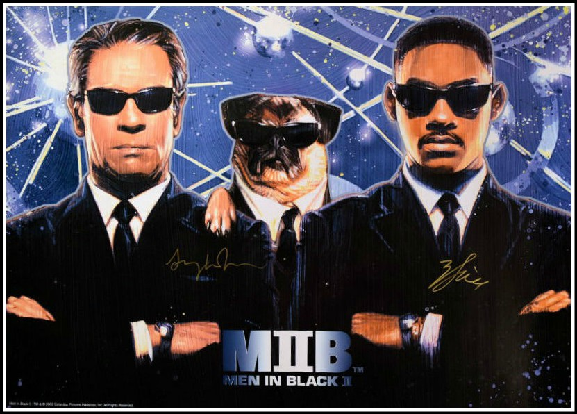 Men In Black Signed Poster Will Smith Tommy Lee Jones