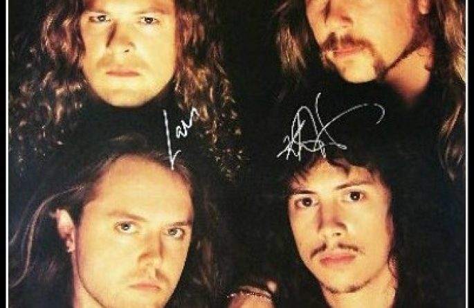 #3 Metallica Signed Poster