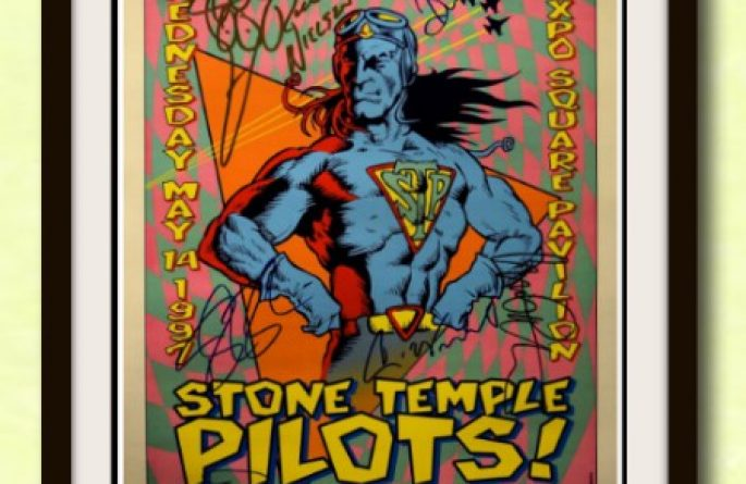 Stone Temple Pilots and Cheap Trick Signed Poster