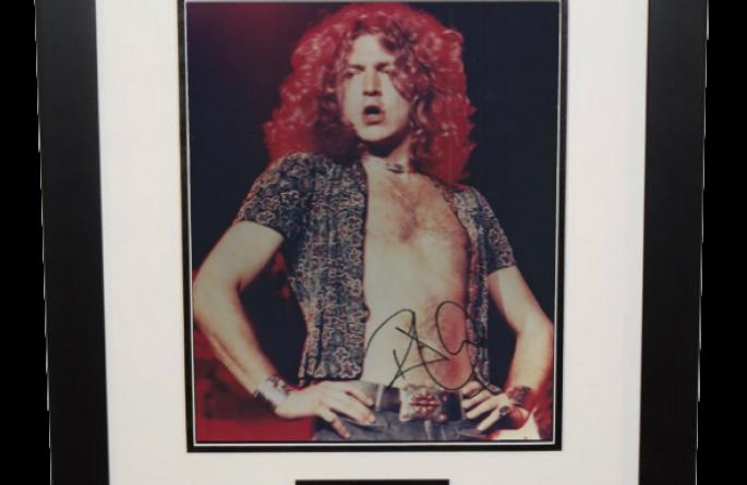 #3-Robert Plant Signed 8×10 Photograph