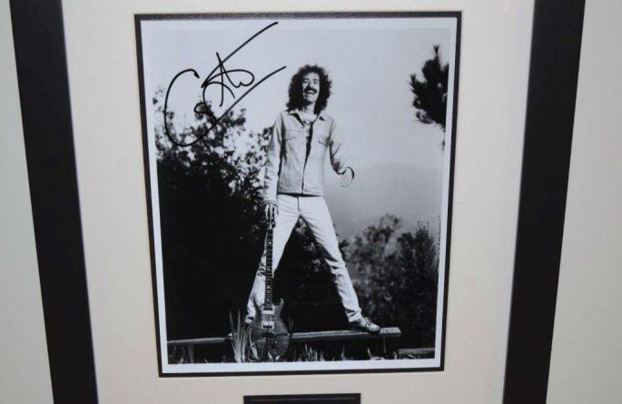 #3-Santana Signed 8×10 Photograph