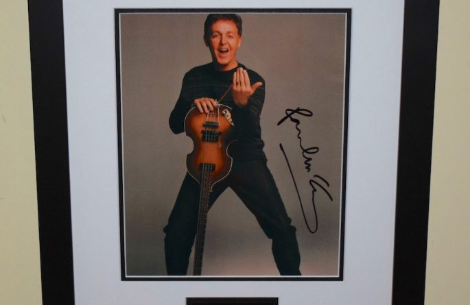 #11-Paul McCartney Signed 8×10 Photograph