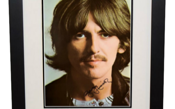 George Harrison Signed 8×10 Photograph