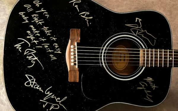 Tom Petty Black Acoustic Guitar