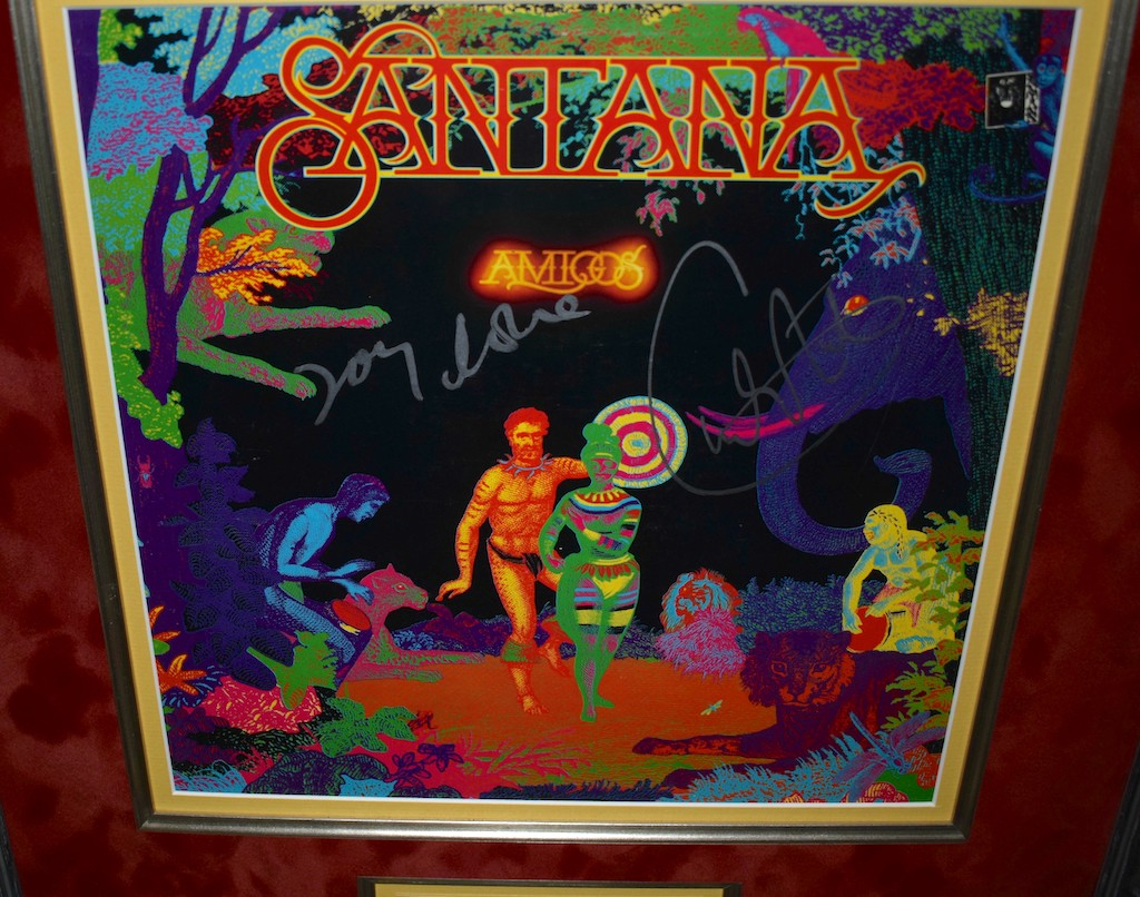 santana amigos signed albums rock star galleryrock star gallery. Black Bedroom Furniture Sets. Home Design Ideas
