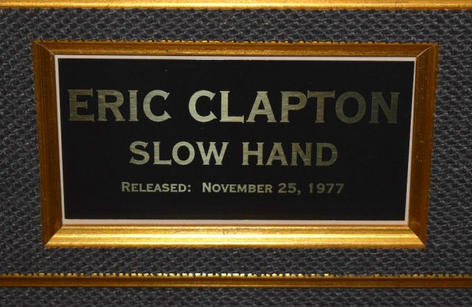 eric clapton slow hand rock star gallery hand signed collectiblesrock star gallery. Black Bedroom Furniture Sets. Home Design Ideas
