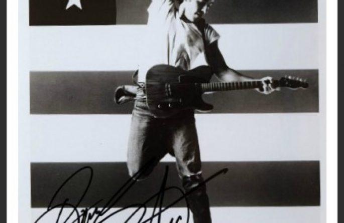 Bruce Springsteen 8×10 Photograph & Set List
