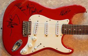 Van Halen Red Fender Squier Stratocaster