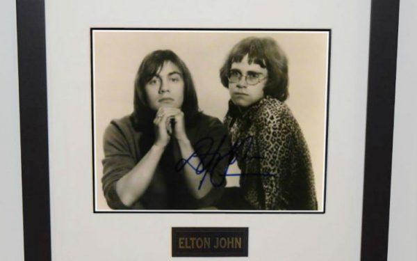 #8-Elton John and Bernie Taupin 8×10 Photograph
