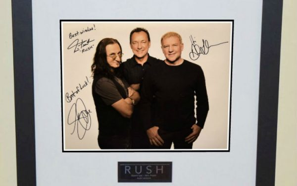 #4-Rush Signed 11×14 Photograph