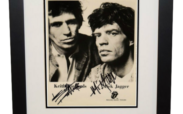 #9-Mick Jagger & Keith Richards Signed 8×10 Photograph