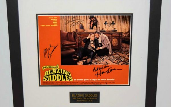 Blazing Saddles Signed 11×14 Lobby Card