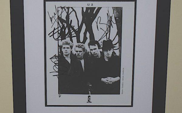 #10-U2 Signed 8×10 Photograph