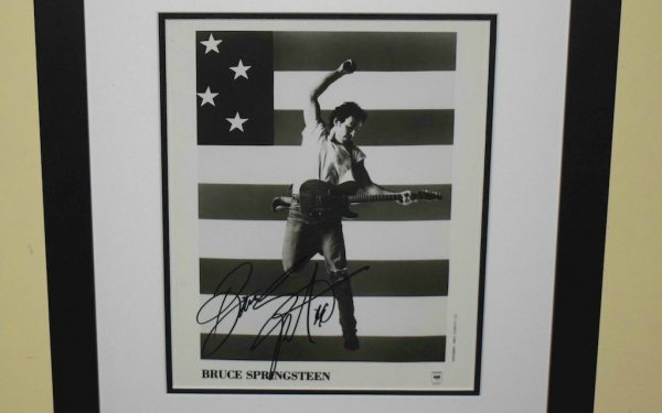 #12 Bruce Springsteen Signed 8×10 Photograph