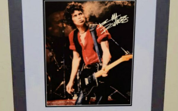 #13-Keith Richards Signed 11×14 Photograph
