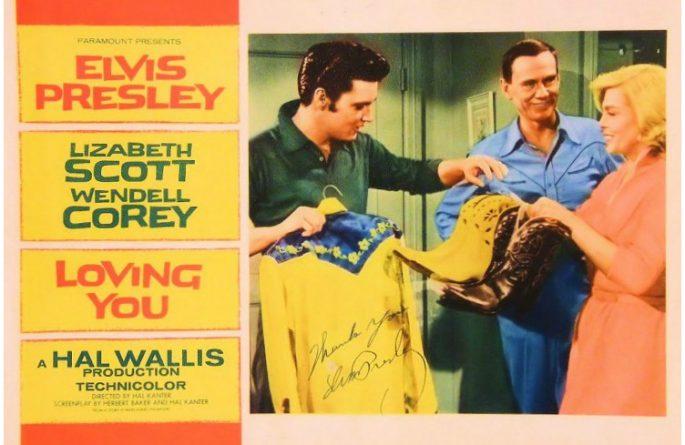 Elvis Presley Loving You Signed 11×14 Lobby Card