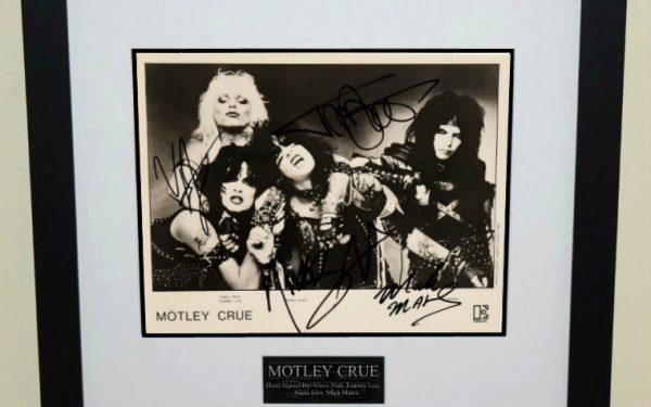 #3-Motley Crue Signed 8×10 Photograph