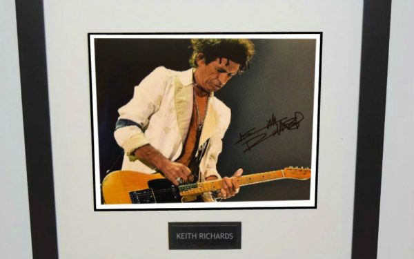 #14-Keith Richards Signed 11×14 Photograph
