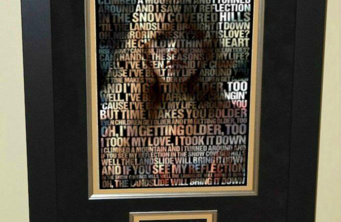 #2 Stevie Nicks – Poster With Lyrics