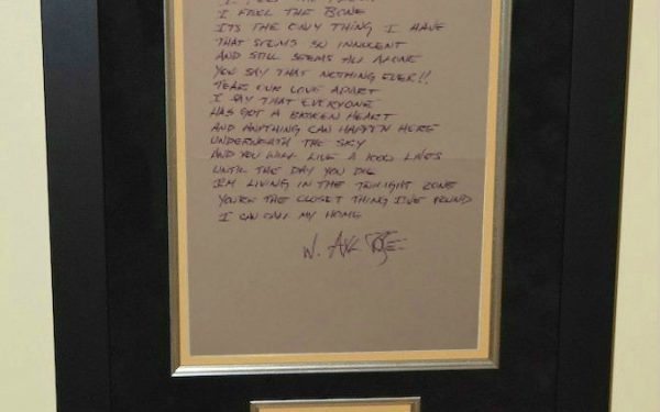 Guns N' Roses – Axl Rose – Handwritten Lyrics