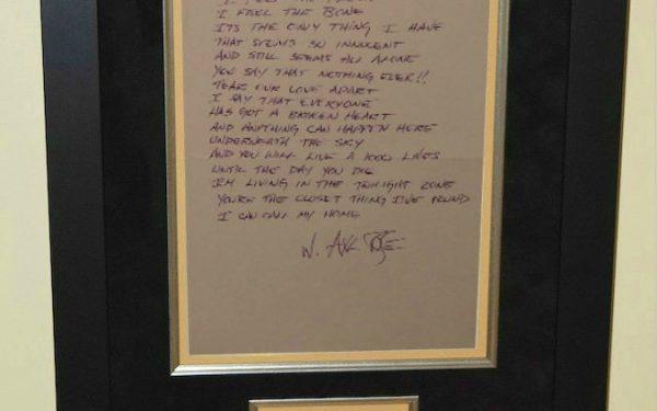 Guns N' Roses – Axl Rose – Handwritten Lyrics