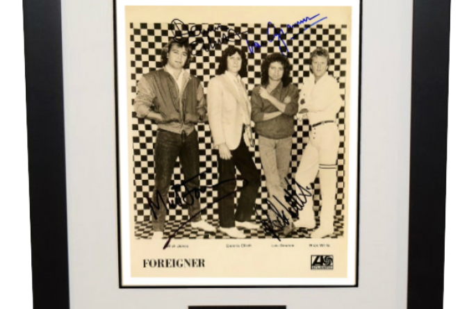 #2-Foreigner Signed 8×10 Photograph