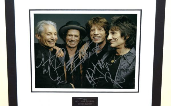 #12-Rolling Stones 8×10 Signed Photograph