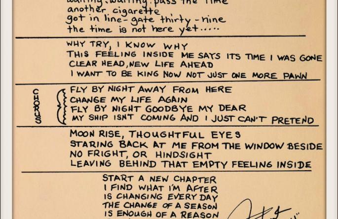 Rush – Fly By Night