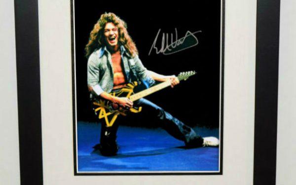 #9-Eddie Van Halen Signed 8×10 Photograph