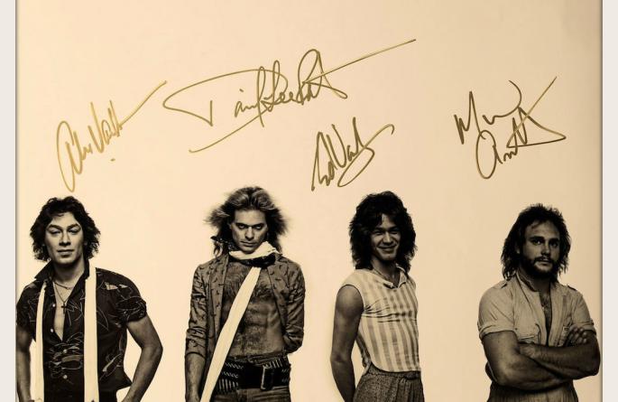 #12-Van Halen Signed 11×14 Photograph