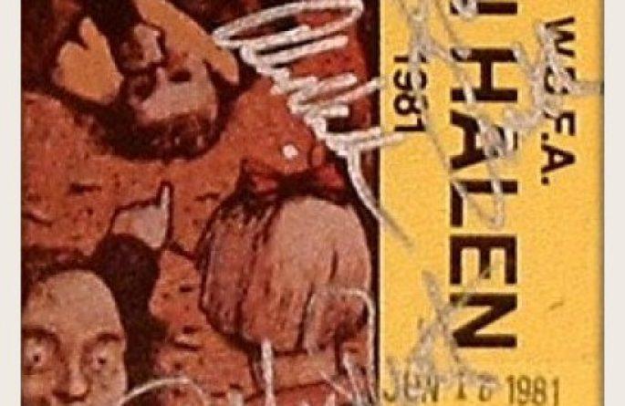 Van Halen – Fair Warning Tour Back Stage Pass