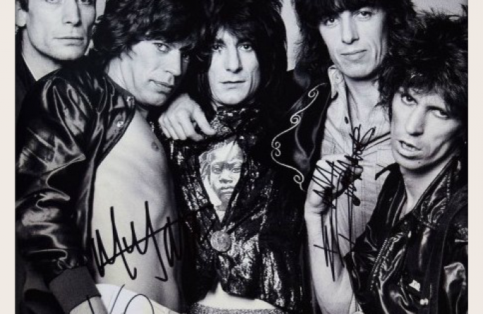 #10-Rolling Stones Signed 11×14 Photograph