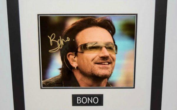 #11-U2 – Bono Hand Signed 8×10 Photograph