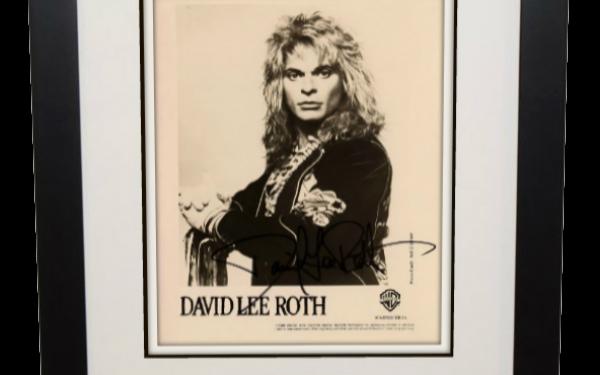#13-Van Halen – David Lee Roth Signed 8×10 Photograph