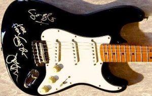 Cream Black Fender Stratocaster