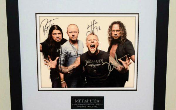 #4-Metallica Signed 8×10 Photograph