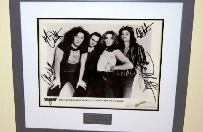 #7-Van Halen Signed 8×10 Photograph