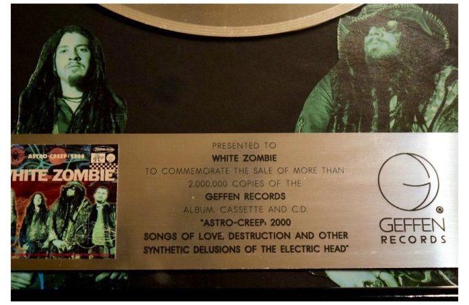 White Zombie RIAA Award For Astro-Creep, 2000