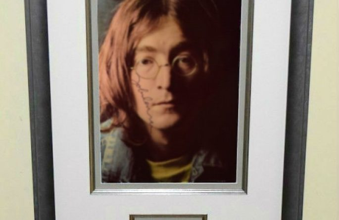 #1-John Lennon Signed 8×10 Photograph