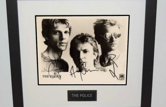 #5-The Police Signed 8×10 Photograph