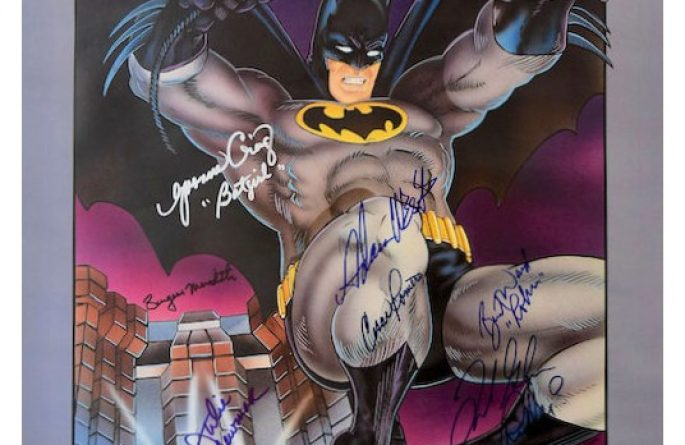Batman Signed Poster