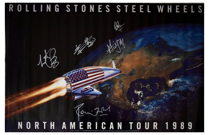 #3 Rolling Stones Signed Poster