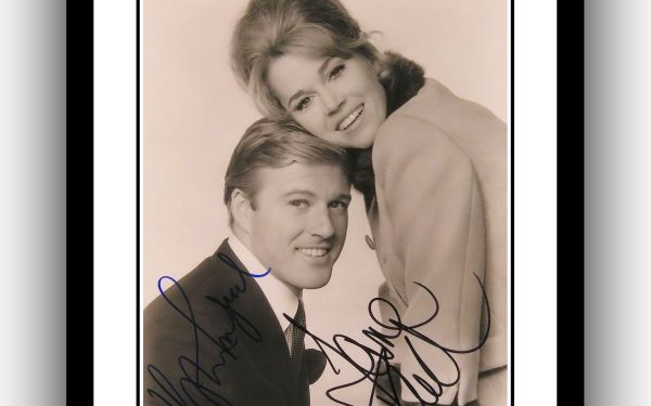 Robert Redford and Jane Fonda Signed Photograph