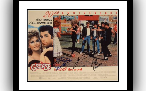 Grease Signed Lobby Card