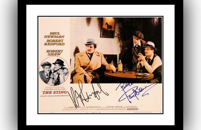 The Sting Signed Lobby Card