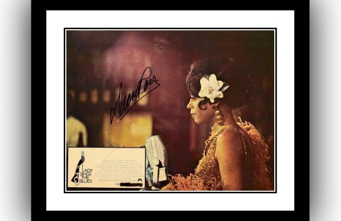 Lady Sings The Blues Signed Lobby Card