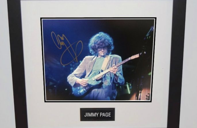 #6-Jimmy Page Signed 8×10 Photograph