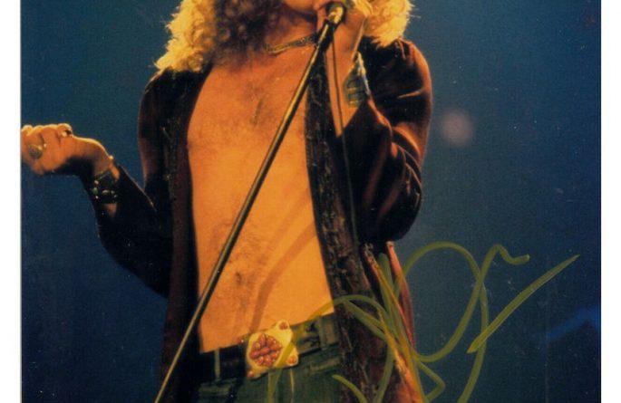 Robert Plant Signed 8×10 Photograph